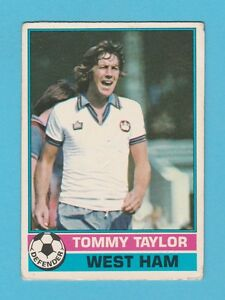 FOOTBALL - TOPPS  GUM  -  FOOTBALLER  -  TOMMY  TAYLOR  OF  WEST  HAM  -  1977