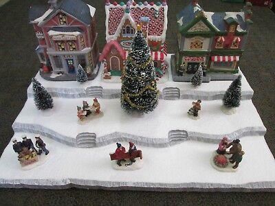 Christmas Village Display Base Platform D4 Dept 56 Lemax Dickens Snow Village