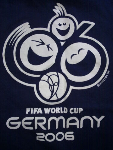 FIFA WORLD CUP GERMANY 2006 T-SHIRT S 100% COTTON Fußball