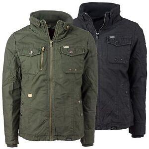 Details zu Khujo Herren Winterjacke robuste Winter Jacke Herrenjacke Stehkragen 6 Taschen