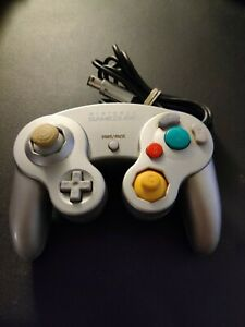 Nintendo-Gamecube-Controller-Dol-003-Silver-Original-Tested-TIGHT-STICK
