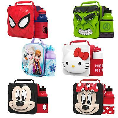 """TV Personnage /""""Back to School/"""" Sac-Repas Isotherme /& Bouteille-Marvel Spiderman"""