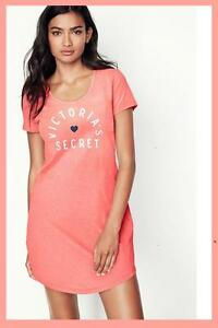 Victoria's Coral Neon New maniche da Autentica di a Secret notte corte Scoopneck camicia zSdqUS