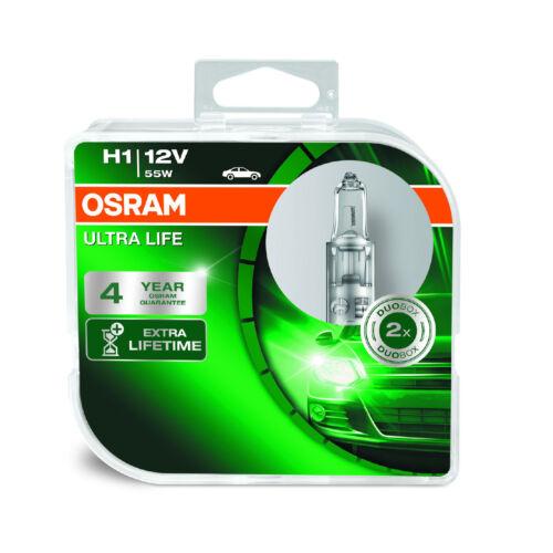 2x Jaguar XK8 Genuine Osram Ultra Life High Main Beam Headlight Bulbs Pair