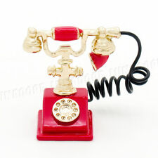 Dollhouse Miniature Old Fashion Telephone Vintage Phone 1:12 F7 Dollys Gallery