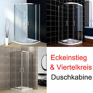 duschkabine 90 90cm eckeinstieg viertelkreis schiebet r echtglas mit duschtasse ebay. Black Bedroom Furniture Sets. Home Design Ideas