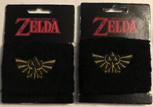 Lot Of 2 Nintendo Legend of Zelda Sweatband Wristband LootCrate exclusive-NEW