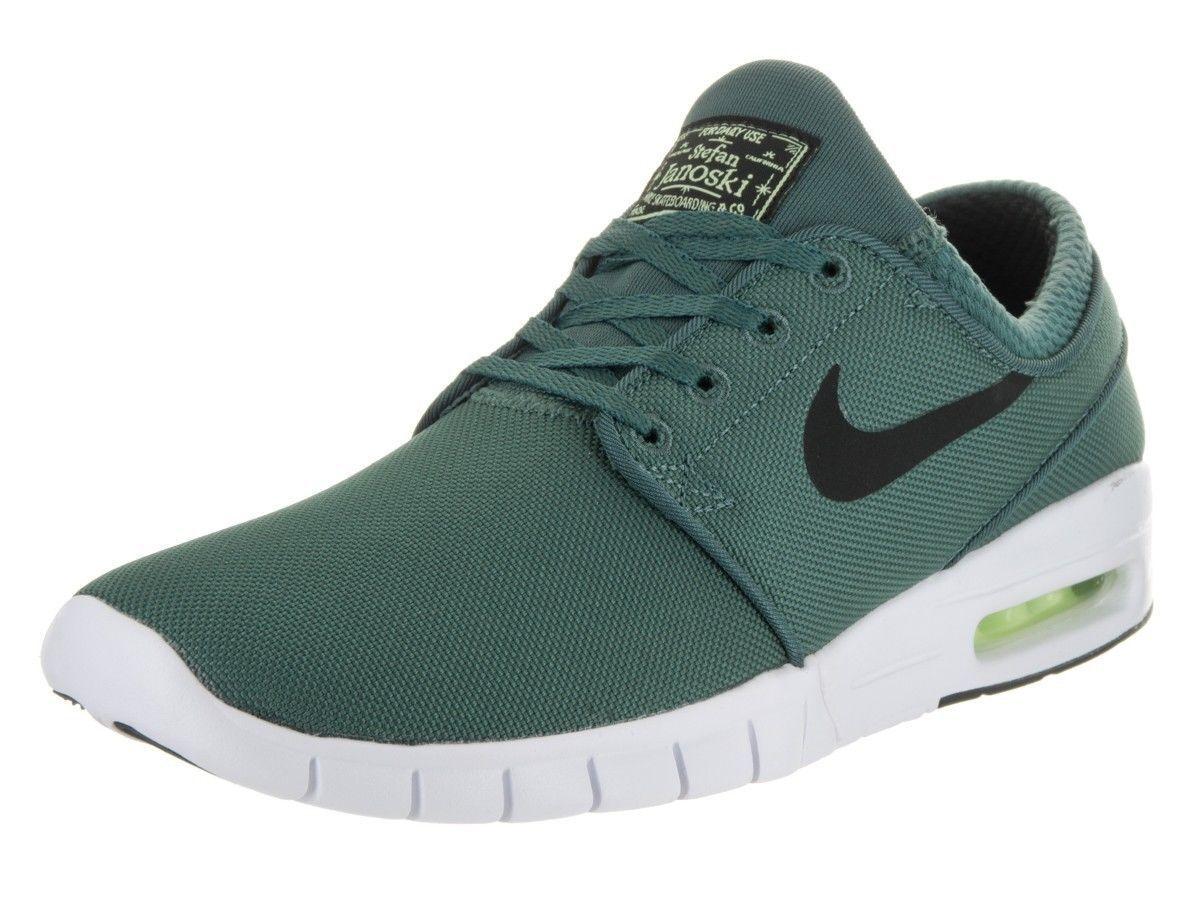 Men's Size 10 Nike SB Zoom Stefan Janoski Air Max Green White New Running Gym