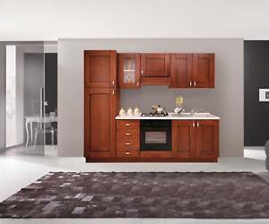 Dettagli su Basi mobili cucina componibile noce arte povera legno
