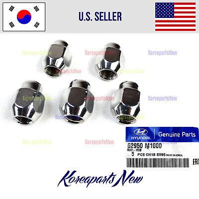 GENUINE Wheel Lug Nut 5pcs 52950M1000 HYUNDAI KIA 2004-2018 See Compatibility