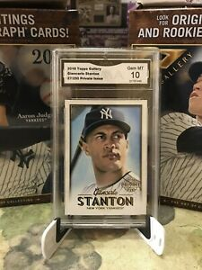 2018-Topps-Gallery-Giancarlo-Stanton-27-250-Private-Issue-GMA-Gem-MT-10
