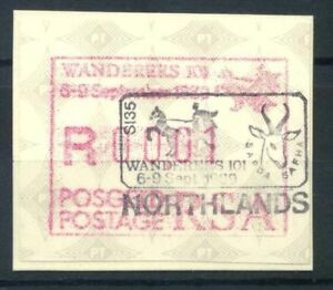 Sud-Africa-1989-Mi-8-Nuovo-100-ATM-Northlands-automatiche-WANDERERS