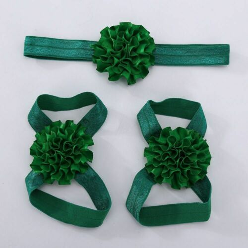Baby Set Headband Barefoot Foot Flower Accessories Elastic Hair Band Cute