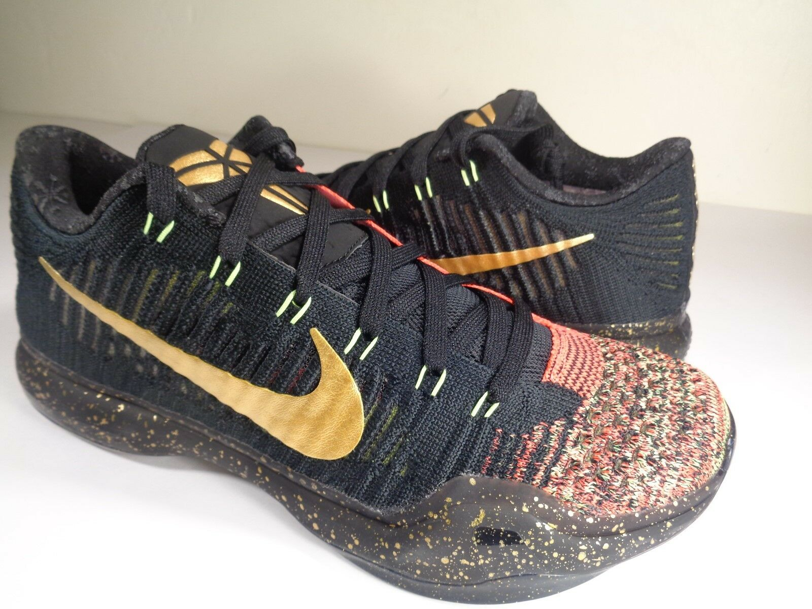 Nike Kobe 10 X Elite Low Christmas 5 Rings Gold Black Red Price reduction Comfortable and good-looking