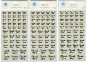 Victoria-Lynn-Gold-Thank-You-Stickers-3-Pack-Total-141-Stickers