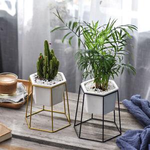 Hanging Planter Vase Iron Geometric Wall Decor Container Succulent ...