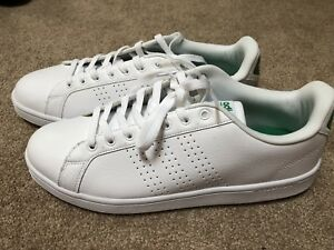 Details about Adidas Originals Mens Cloudfoam Advantage Sneakers Green/White Sz 11 US AW3914