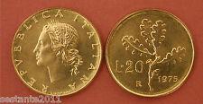 C5  ITALY  REPUBBLICA ITALIANA   20 LIRE 1975   KM 97.2  FDC / UNC