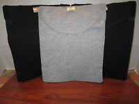Men's A Shirt Wife Beater Ribbed Soild Colors 3 Pack 2 Black And 1 Grey