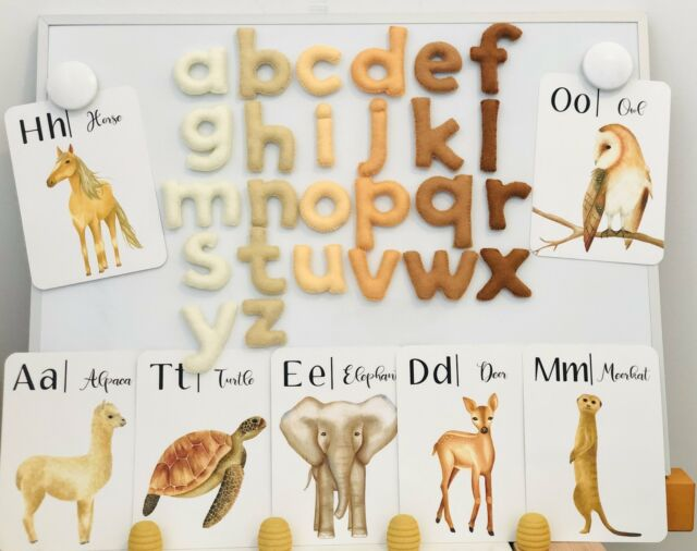 Magnetic alphabet, magnetic felt alphabet, magnetic letters