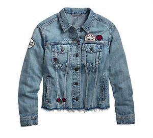 96748 Femme Free pour Xxl Roam Veste Denim davidson Harley 19vw UPAw4Zqfnx