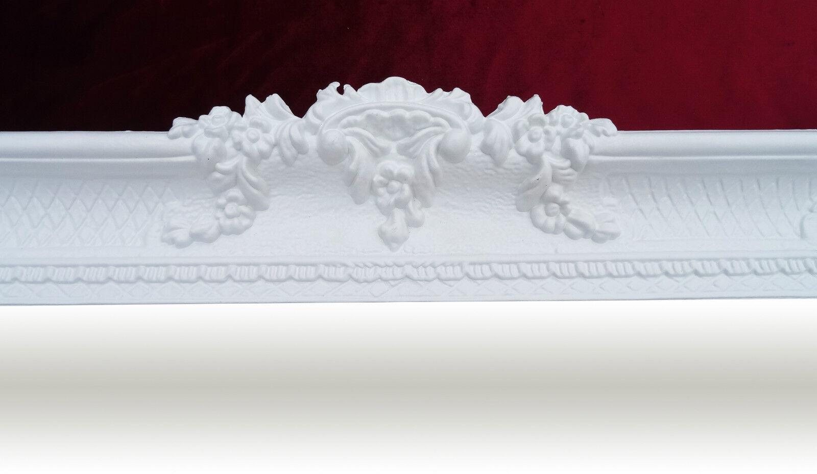 Espejo de Pared Blanco Antiguo Barroco Rococó 96×57 REPRO
