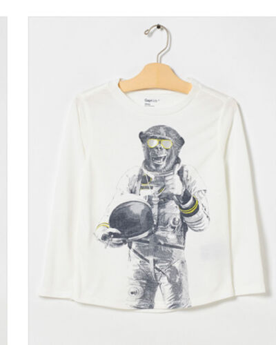 NWT GAP KIDS BOY/'S NEW OFF WHITE GRAPHIC PJ TOP 100/% POLYESTER