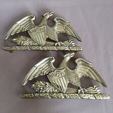 Vintage 1952 Virginia Metalcrafters Solid Brass Patriotic Federal Eagle Trivets
