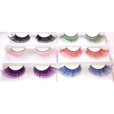 Cat Eye Flare Extra Long False Eyelashes Fake Lash Extensions Fancy Color Purple