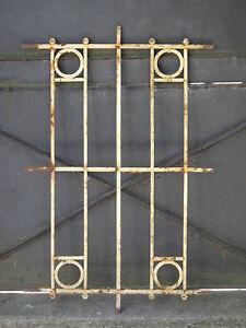 104 X 68 Cm Ancienne Grille De Défense De Fenêtre Début Xxème