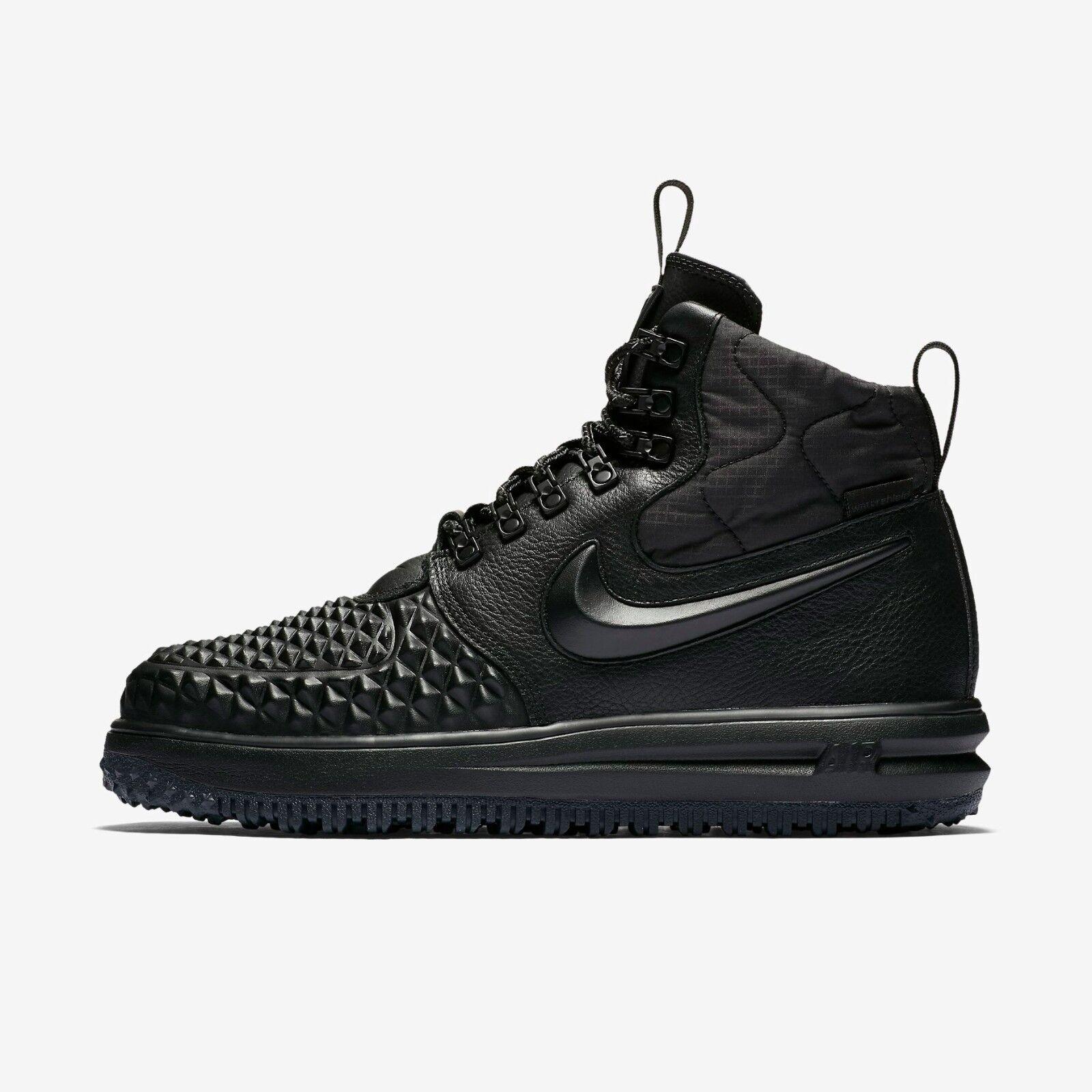 NIKE LUNAR FORCE 1 DUCKBOOT 2017 916682-002 BLACK BLACK ANTHRACITE TRIPLE BLACK