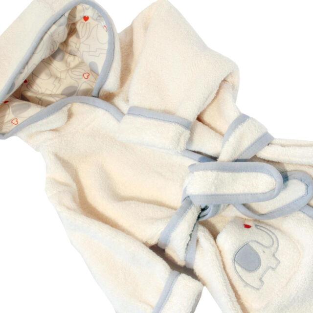 Baby Bademantel 50 56 62 68 74 80 86 92 Bio Baumwolle GOTS Natures Purest neu