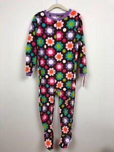 6129cbb4d72d Carter s Girls Footed Fleece Pajama Size 4 One Piece Flowers Print ...