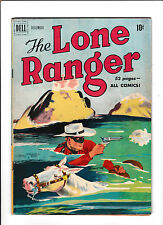 LONE RANGER #30  [1950 GD-VG]  SWIMMING & SHOOTING COVER!
