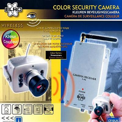 Elro C910UK Wireless Colour CCTV Digital Camera and Transmitter Connect to VCR