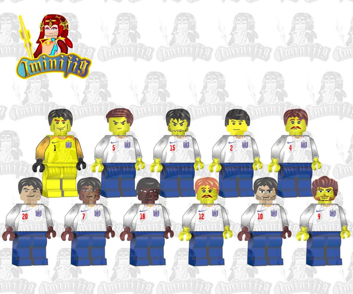 Lego Personalizado FIFA 2018 World Cup England Equipo blancoo 11 jugadores Kane