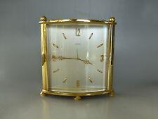 Rare Vintage ANGELUS Swiss Mechanical 8 Day Alarm Clock ( WATCH THE VIDEO )