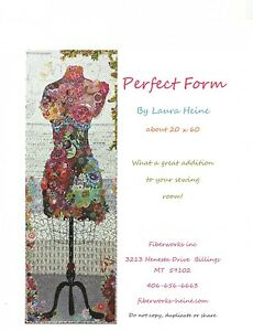 PERFECT FORM COLLAGE QUILT PATTERN, from Fiberworks INC, *NEW*