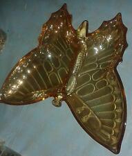 Carnival Glass Butterfly Dish in Jeannette Marigold 1950s