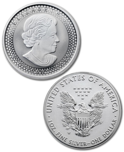 2019 Silver Eagle /& Maple Pride of Two Nations 2-Coin RCM Set OGP SKU58353