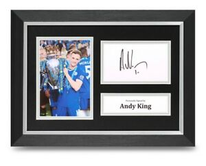 Andy-King-Signed-A4-Framed-Photo-Display-Leicester-City-Autograph-Memorabilia