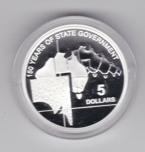 2007-5-Silver-Proof-Coin-150-Years-of-State-Government-South-Australia
