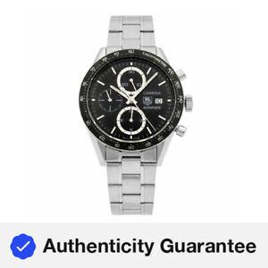 TAG Heuer Carrera Chrono Black Dial Steel Automatic Mens Watch CV2010.BA0794