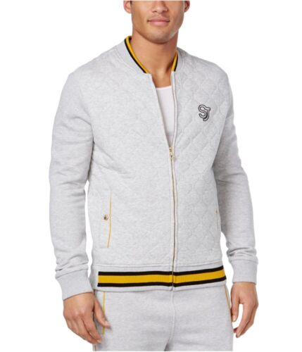 Sean John Mens Quilted Logo Track Jacket grey Big 3X