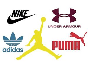 c4a534cbd4c7 5 in 1 Sports waterproof vinyl decals pack Nike Adidas Puma Under ...