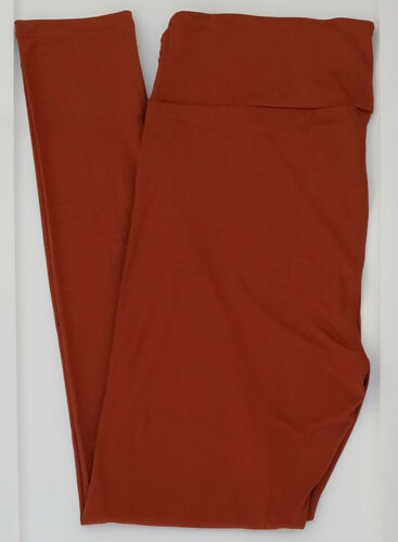 TC LuLaRoe Tall /& Curvy Leggings Solid Rusty Burnt Orange NWT 46