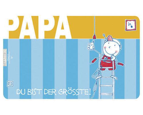 """Auerhahn - Frühstücks Brettchen """" Papa """"- Spruch- Du Bist Der Grösste!  (9,90€)"""