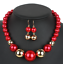 Fashion-Crystal-Pendant-Bib-Choker-Chain-Statement-Necklace-Earrings-Jewelry thumbnail 17