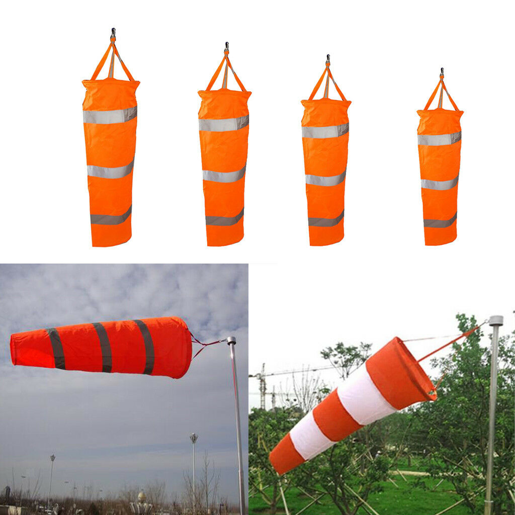 4PCS 60-150cm Airport Windsock Aviation Outdoor Wind SOCK Bag Camping Flag