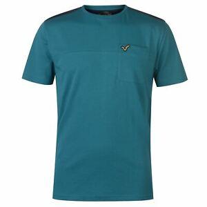 VOI-Shoulder-Insert-T-Shirt-Mens-Gents-Crew-Neck-Tee-Top-Short-Sleeve